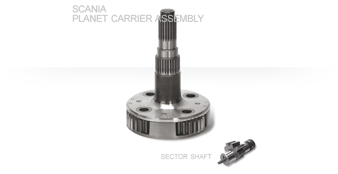 Scania Planet Carrier Assembly / Sector Shaft